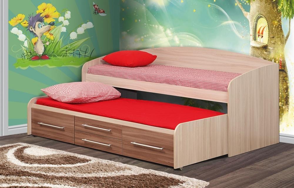 Кровать двухъярусная Адель - 5 (ясень шимо светлый/ясень шимо темный)