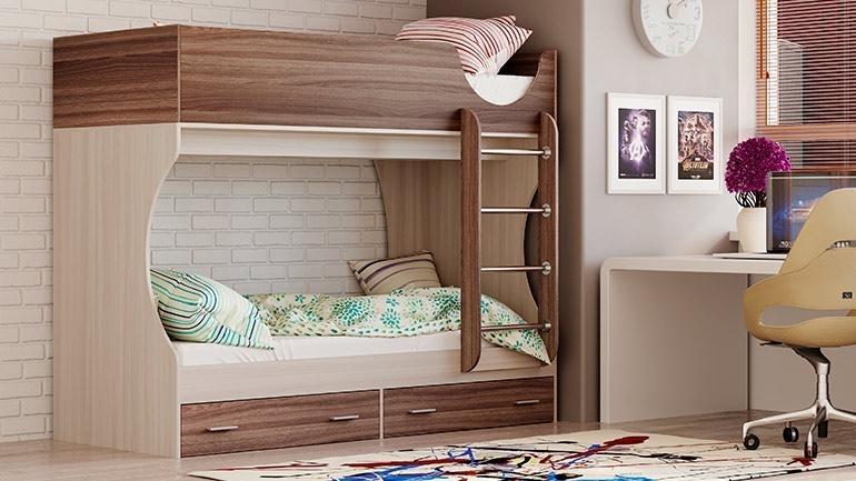 Кровать двухъярусная Адель Д2 (ясень шимо светлый/ясень шимо темный)