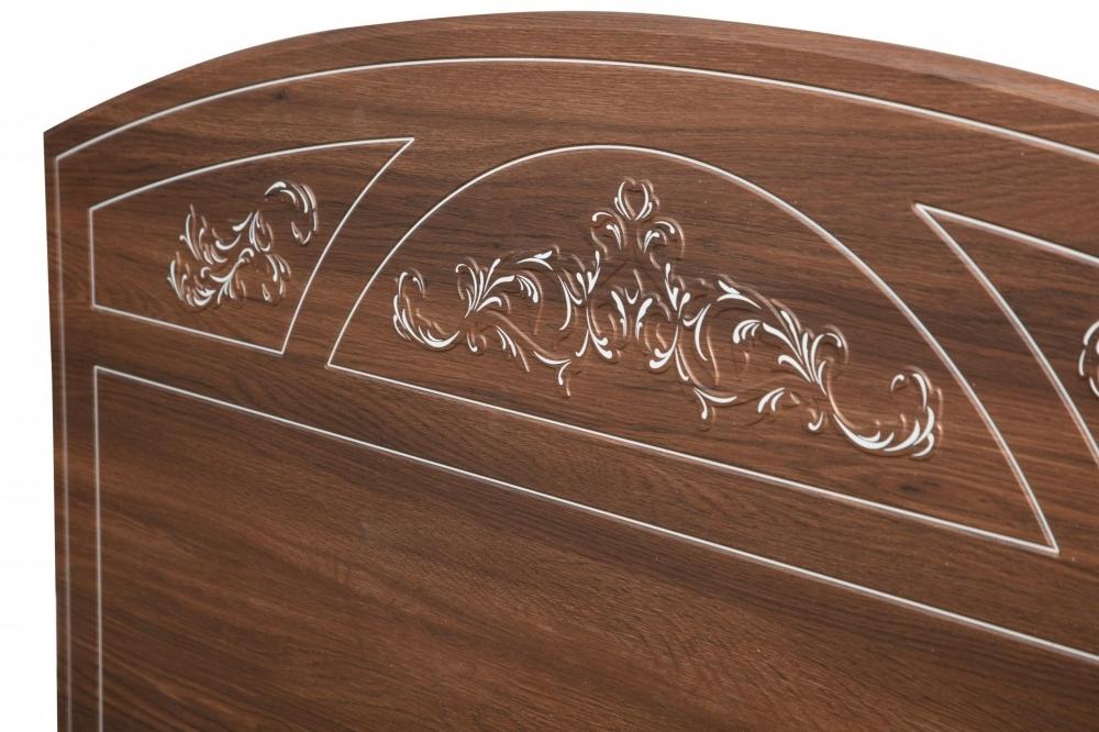 """Кровать двухспальная """"Каролина"""" с ортопедическим основанием (1400) (Патина) (Дуб Кальяри)"""