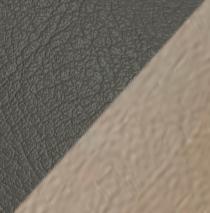"""Кровать интерьерная """"Калипсо"""" (ш.1600) с под. мех. (кож. зам. серый/кож. зам. силк)"""