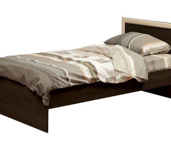 """Кровать односпальная 21.55 """"Фриз"""" с настилом (шир.900) (венге/профиль дуб лендберг)"""