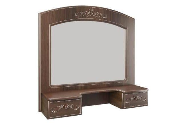 "Полка с зеркалом ""Каролина"" (патина) (дуб кальяри)"