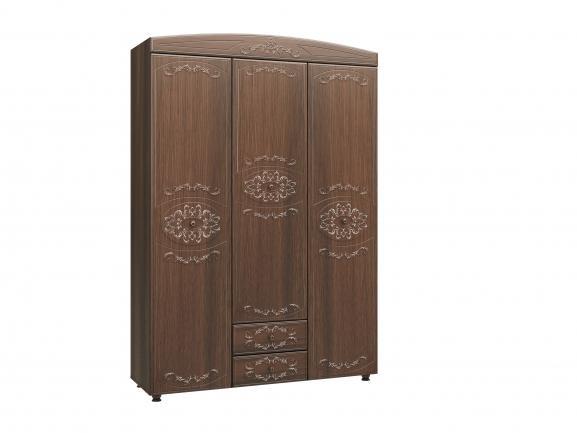 """Шкаф 3-х дверный комбинированный """"Каролина"""" (патина) (дуб кальяри)"""